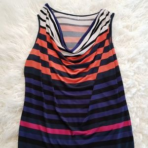 Tops - Color-Blocked Striped Top